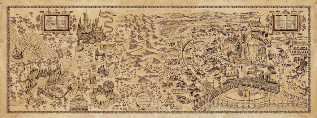 Harry Potter Marauders Map Printable (87+ Images In Collection) Page 1 - Harry Potter Marauders Map Printable