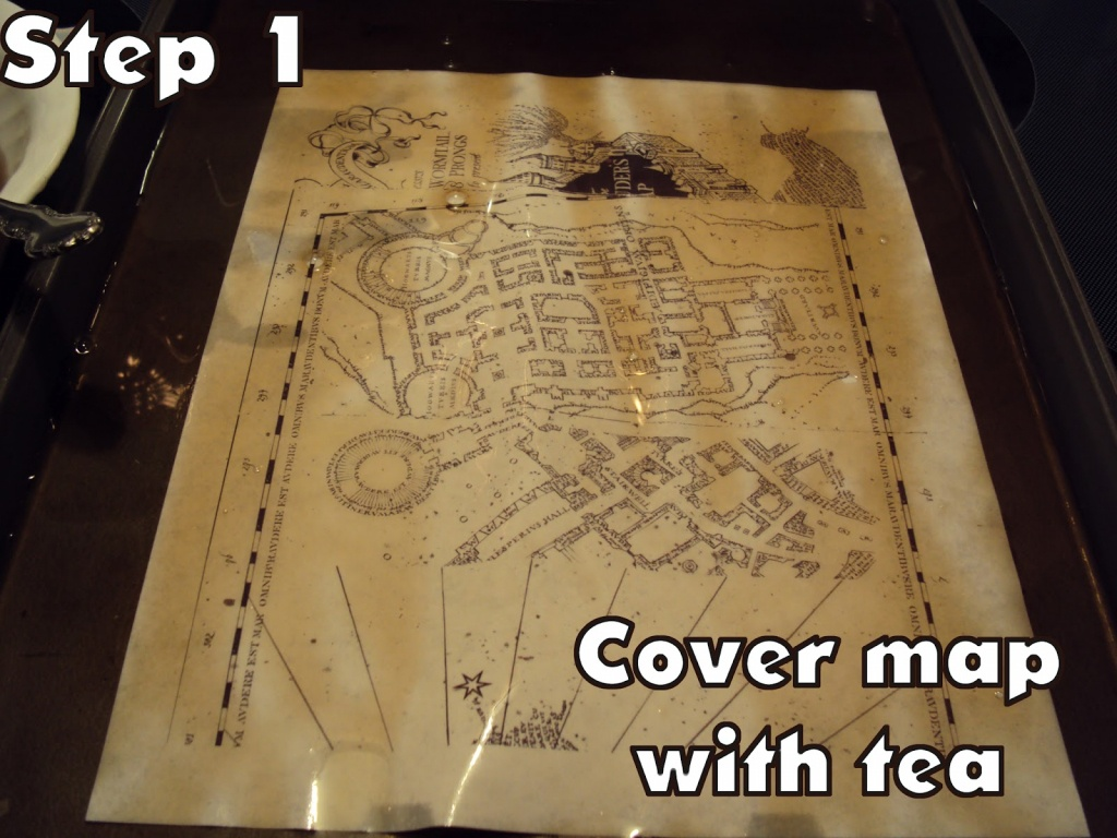 Harry Potter Paraphernalia: Marauder's Map: Inside And Outside - Marauders Map Template Printable
