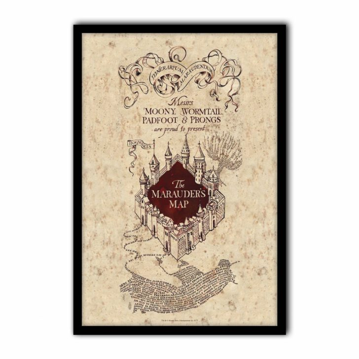 picture about Harry Potter Marauders Map Printable named harry potter the marauders map printable Printable Maps