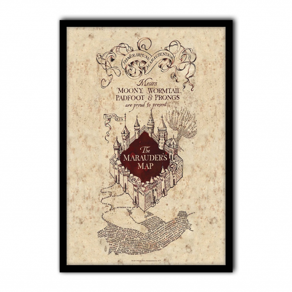 Harry Potter - The Marauder's Map - Poster Print Art, Licensed - The Marauders Map Printable