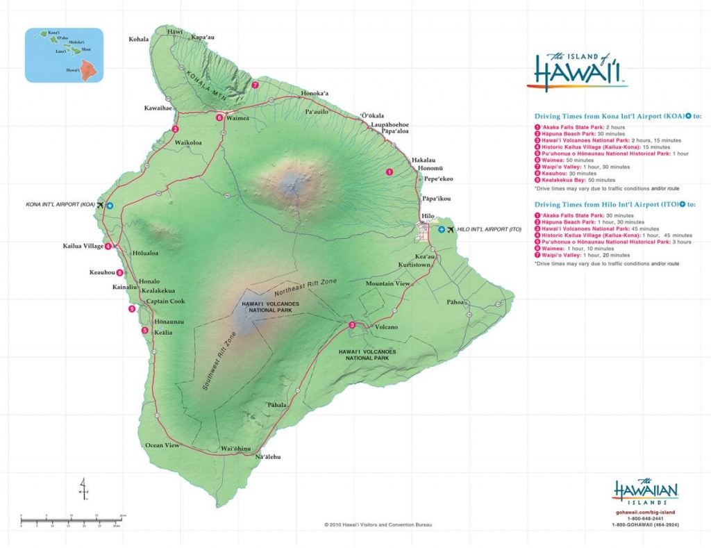 Hawaii Big Island Maps & Geography | Go Hawaii - Map Of The Big Island Hawaii Printable