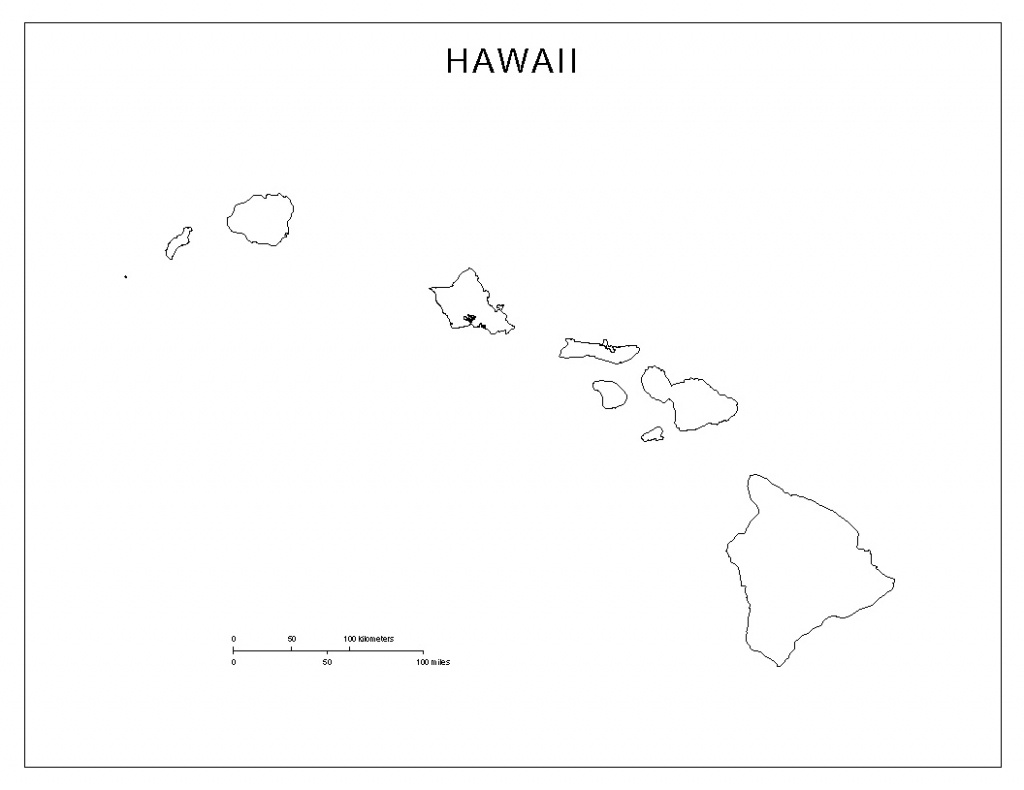 Hawaii Blank Map - Printable Map Of Hawaii