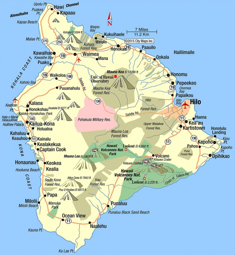 Hawaii Island - Aaccessmaps - Map Of The Big Island Hawaii Printable