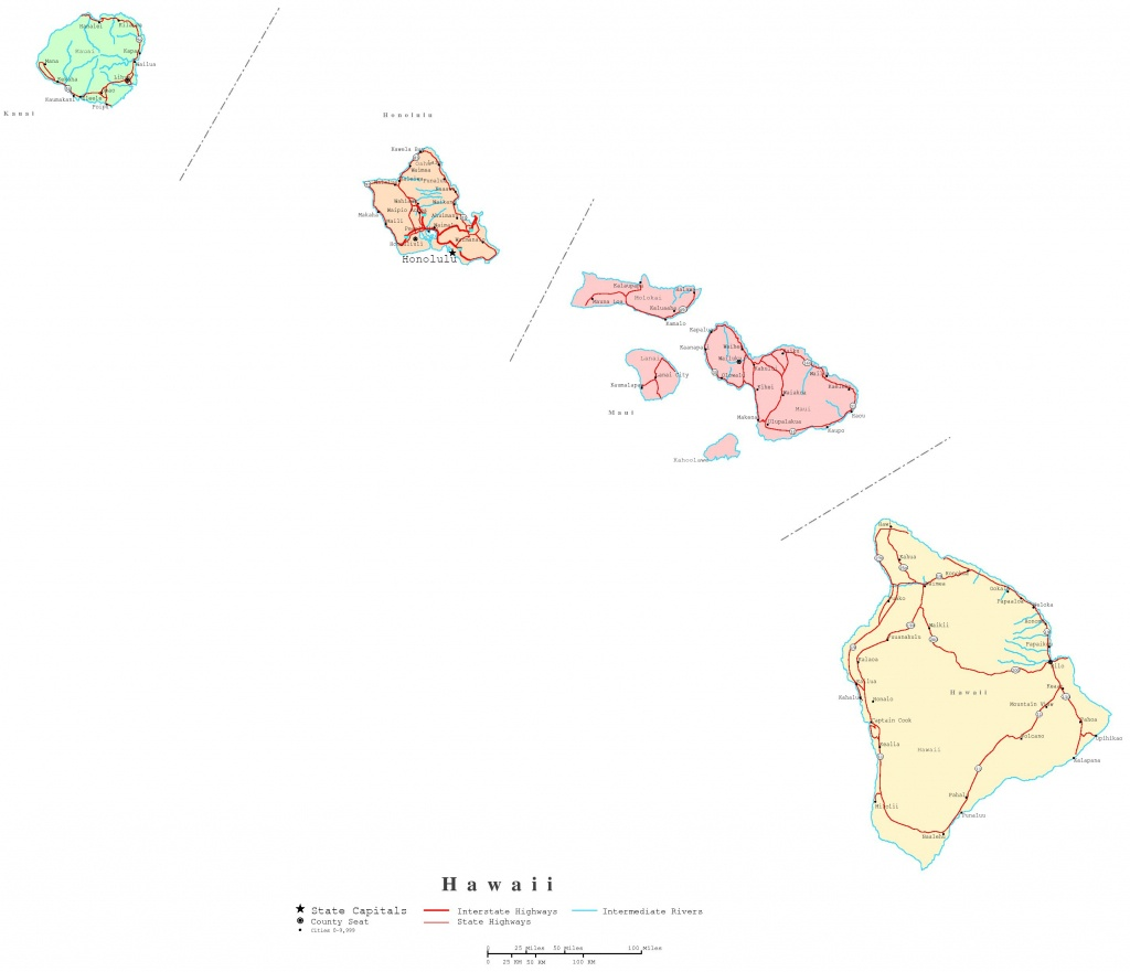 Hawaii Printable Map - Printable Map Of Hawaii