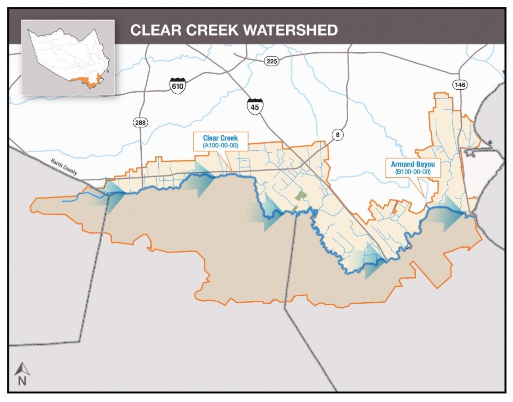 Hcfcd - Clear Creek - Clear Lake Texas Flood Map