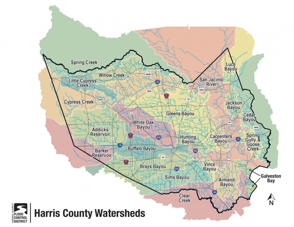 Hcfcd - Harris County's Watersheds - Harris County Texas Flood Map