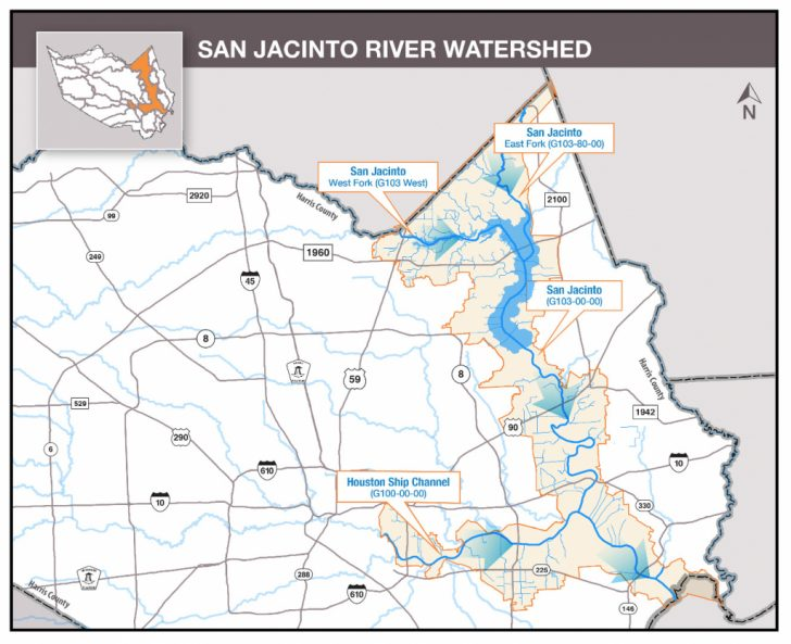 Texas Creeks And Rivers Map