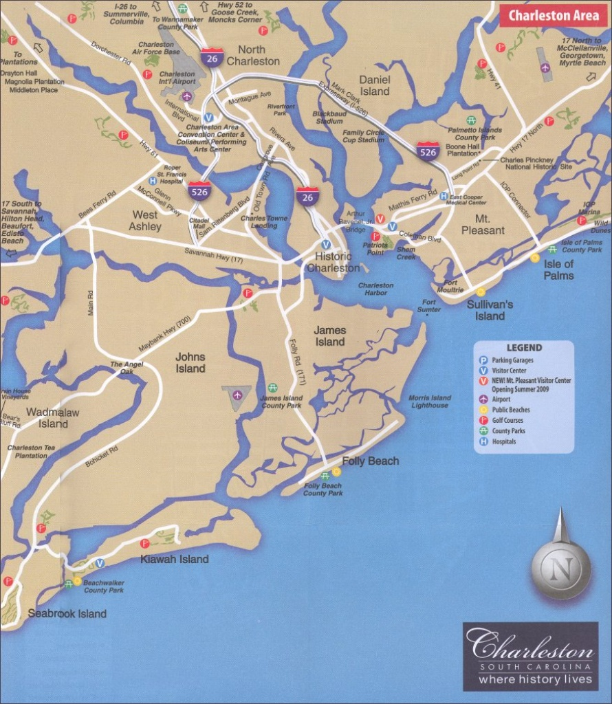 Helpful Charleston Sc Maps 2019 - Printable Map Of Charleston Sc Historic District