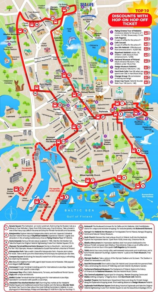 Helsinki Sightseeing Map - Helsinki City Map Printable