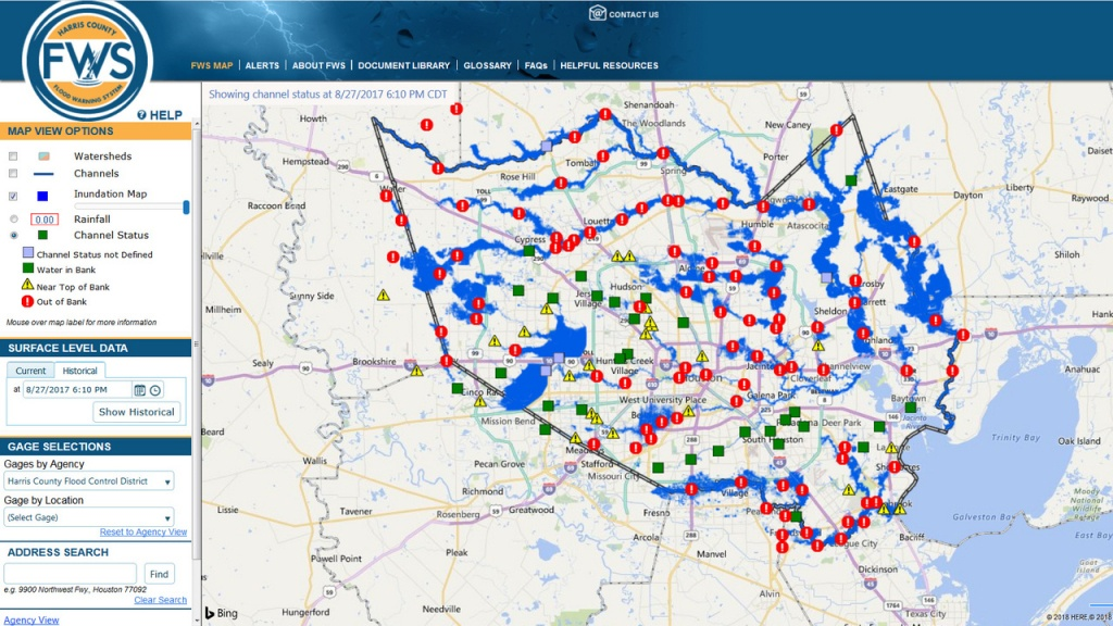 Here's How The New Inundation Flood Mapping Tool Works - Map Of Flooded Areas In Houston Texas