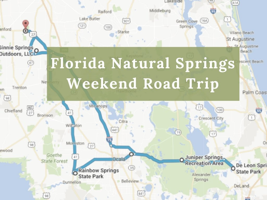 Here's The Perfect Weekend Itinerary If You Love Exploring Florida's - Map Of All Springs In Florida
