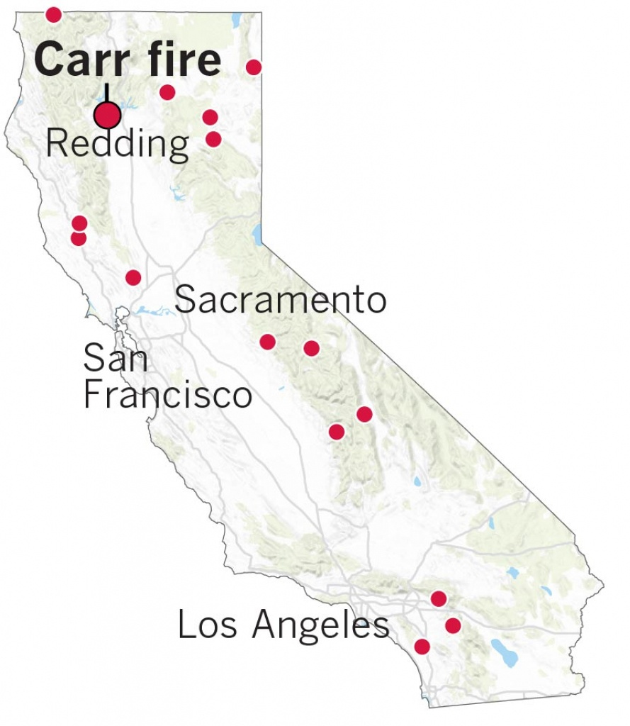 Here's Where The Carr Fire Destroyed Homes In Northern California - Where Is Sacramento California On A Map