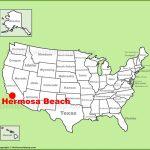 Hermosa Beach Location On The U.s. Map   Hermosa Beach California Map