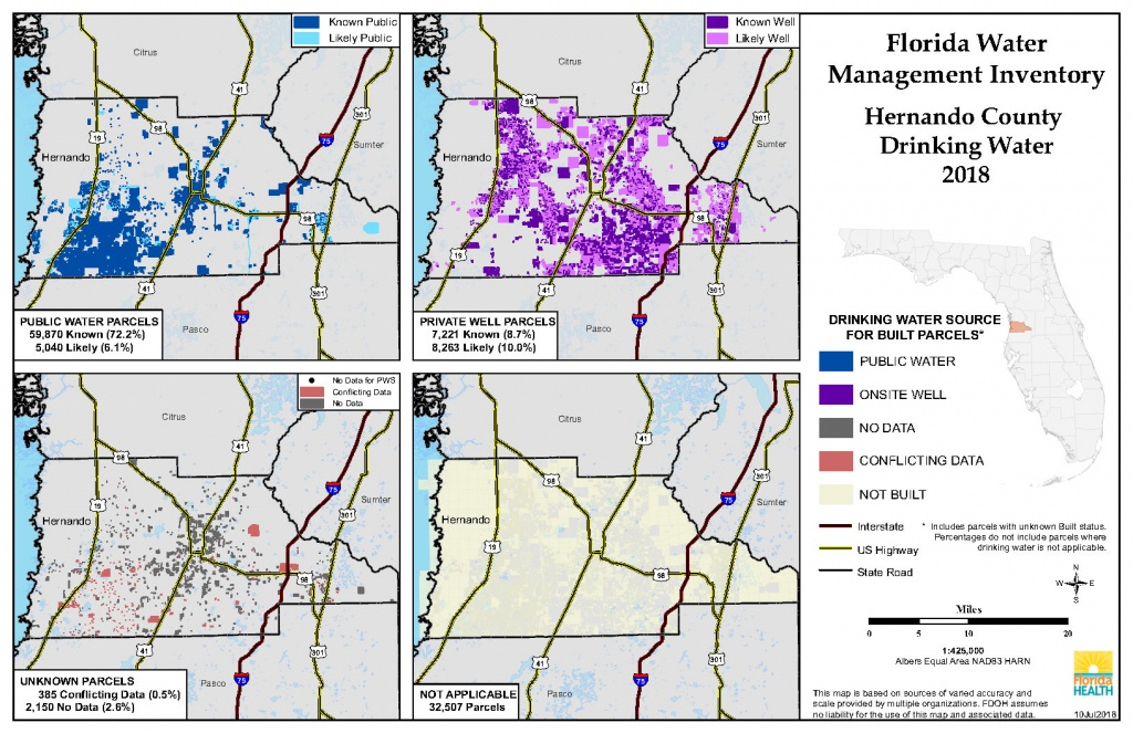 Hernando Florida Water Management Inventory Summary | Florida - Hernando Florida Map