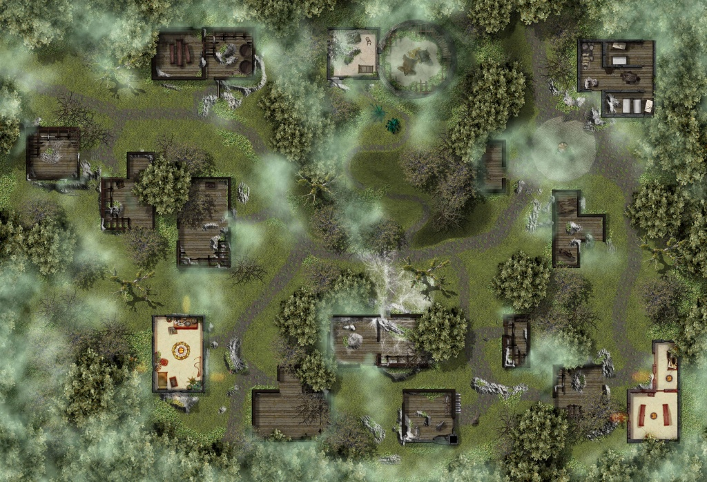 High-Res Map Of Thundertree From The Lost Mine Of Phandelver : Dnd - Lost Mine Of Phandelver Printable Maps