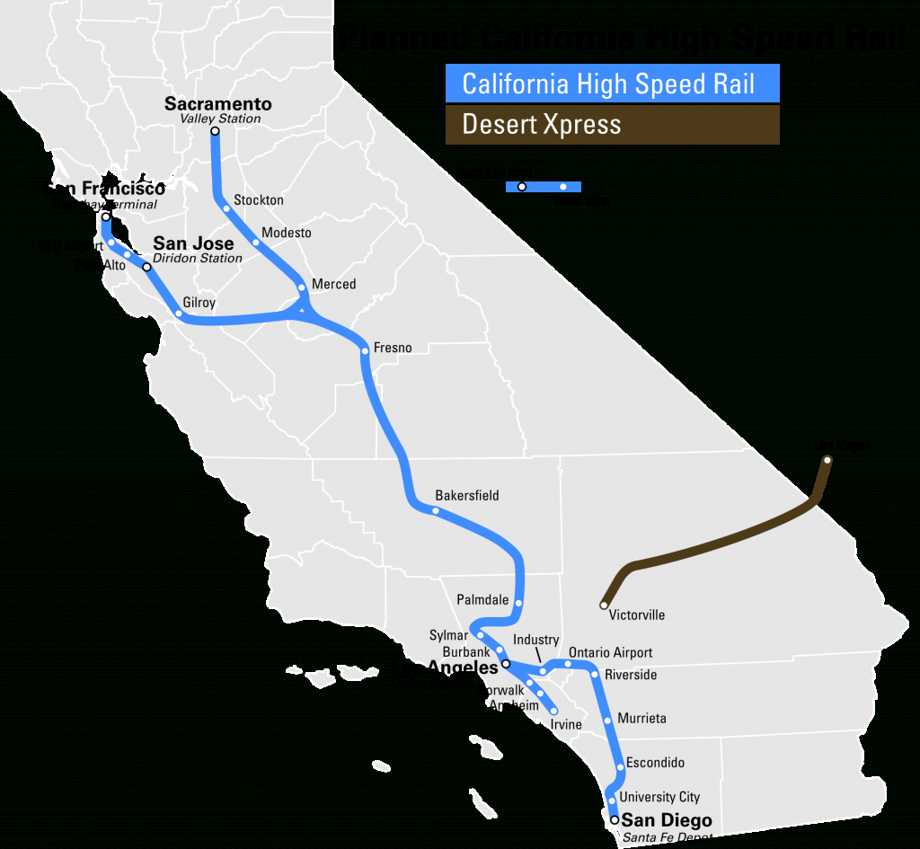High Speed Rail To Las Vegas Breaks Ground 2017 - Canyon News - California Bullet Train Map