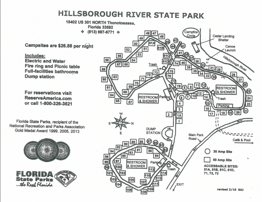 Hillsborough River State Park - Know Your Campground - Florida State Campgrounds Map