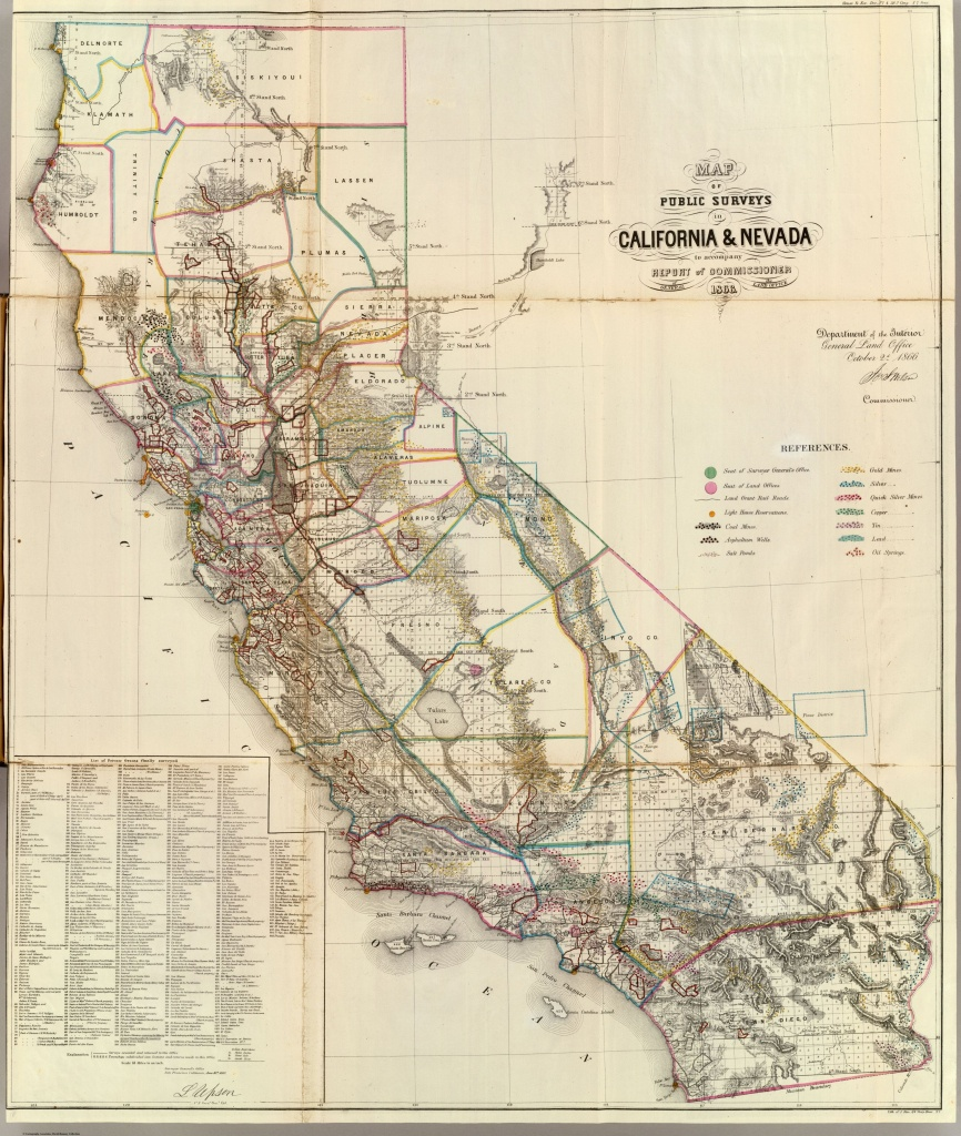 Historic Maps - Spg California Map