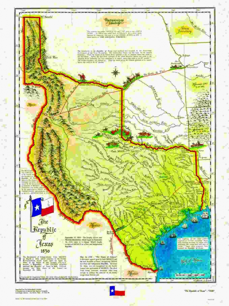 Historical Texas Maps, Texana Series - Texas Independence Map