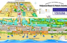 Hollywood Beach And Historic Downtown Map   Map Of Hotels In Hollywood Florida