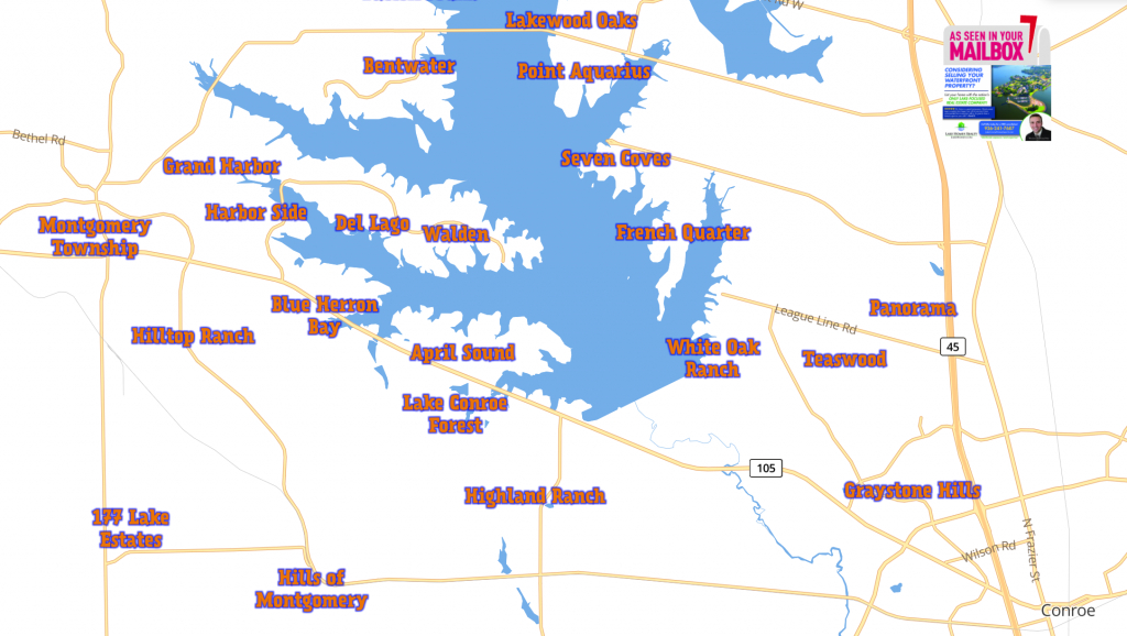 Home - Lake Conroe Homes - Map Of Lake Conroe Texas