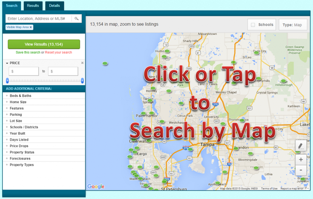 Homes For Sale Entire Tampa Fl Area, Tampa Fl Real Estate, Houses - Mls Listings Florida Map