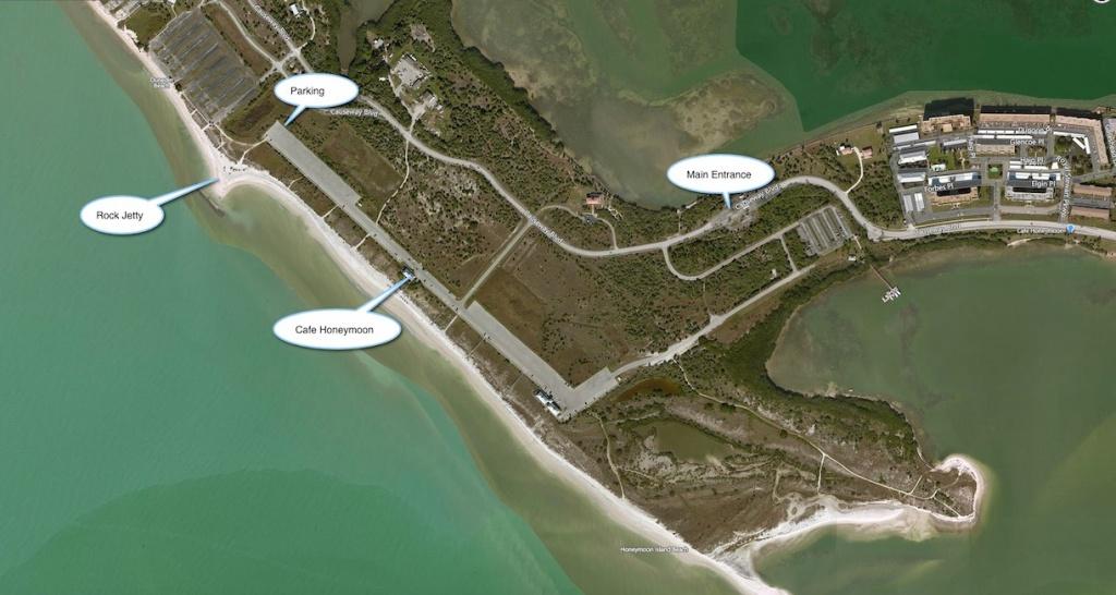 Honeymoon Island - Florida Beach Weddings | Destination Weddings - Honeymoon Island Florida Map