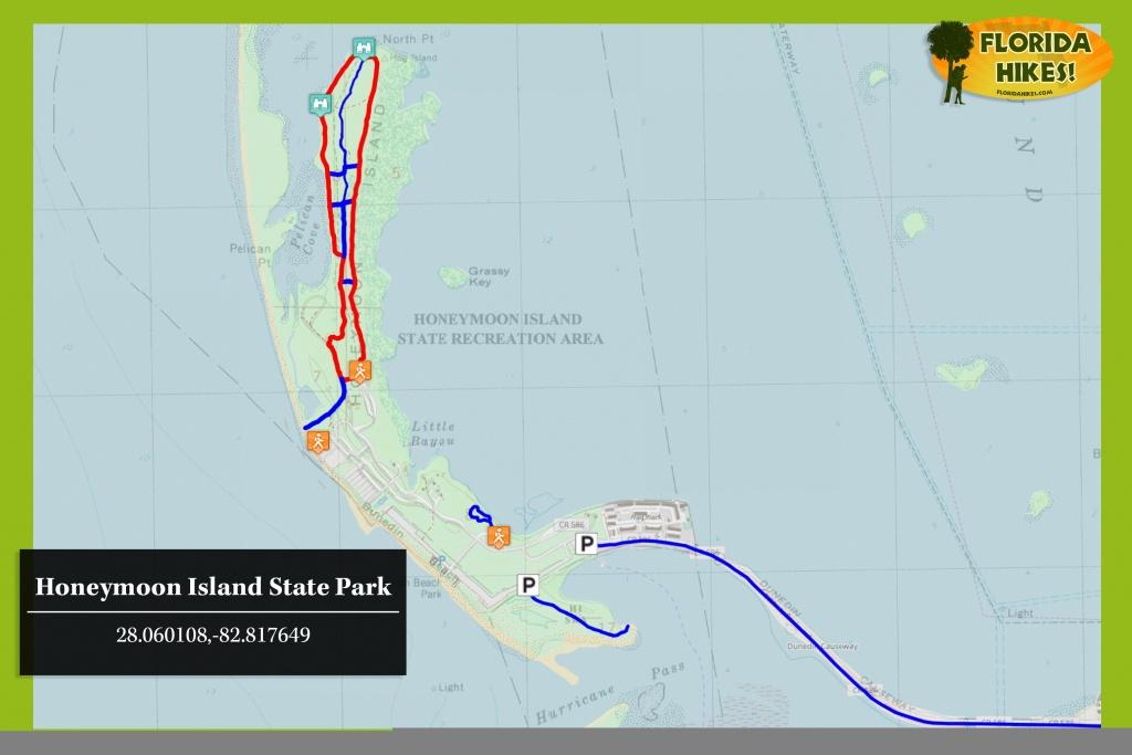Honeymoon Island State Park | Florida Hikes! - Honeymoon Island Florida Map
