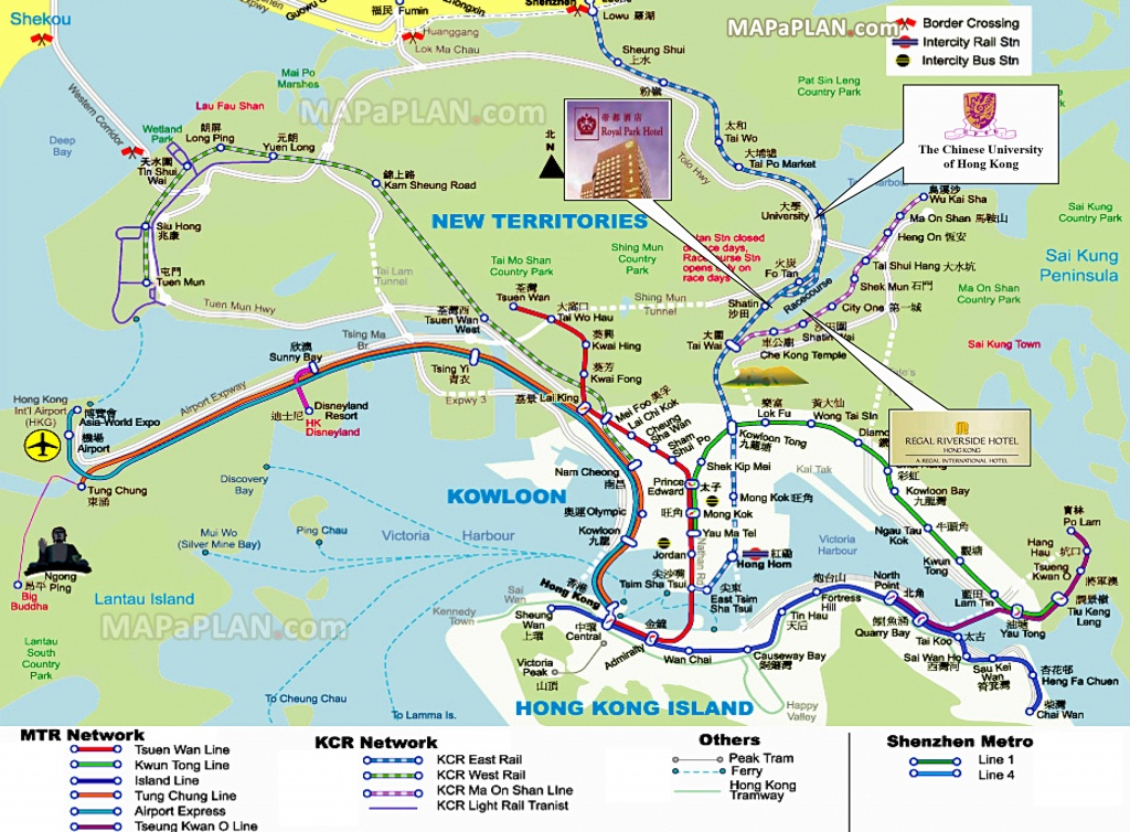 Hong Kong Maps - Top Tourist Attractions - Free, Printable City - Hong Kong Tourist Map Printable