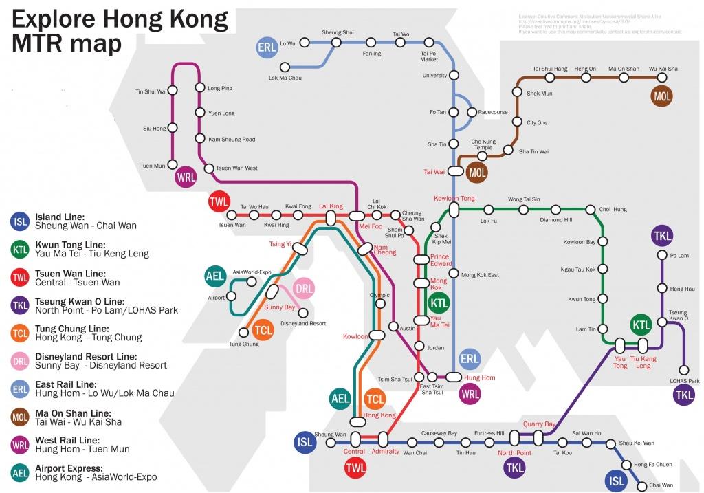Hong Kong Mtr Map 2012-2013 | Printable Hk & Kowloon Subway And - Hong Kong Tourist Map Printable