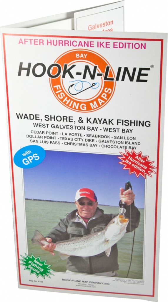 Hook-N-Line Map F103 Wade Fishing Map Of West Galveston Bay (With - Texas Kayak Fishing Maps