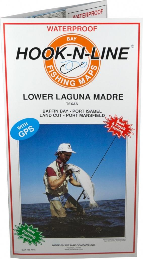 Hook-N-Line Map F115 Lower Laguna Fishing Map (With Gps) - Austinkayak - Texas Wade Fishing Maps