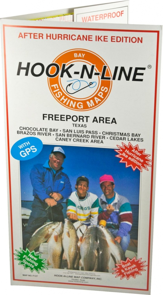 Hook-N-Line Map F127 Freeport Area Fishing Map (With Gps) - Austinkayak - Texas Fishing Maps Free