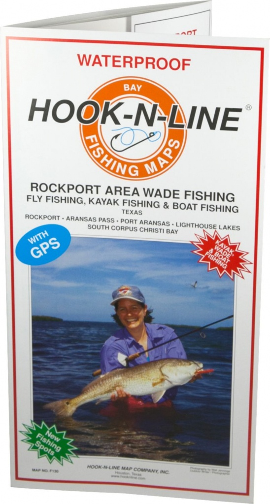 Hook-N-Line Map F130 Rockport Wade Fishing Map (With Gps) - Austinkayak - Texas Fishing Maps Free
