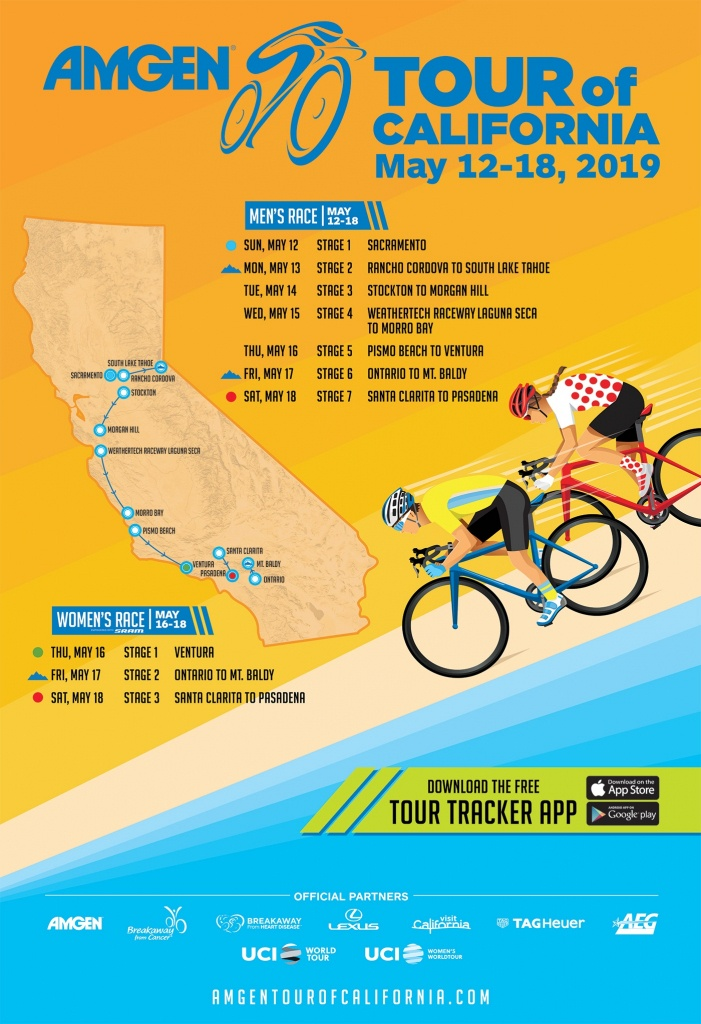 Host City Overview   Amgen Tour Of California - Tour Of California 2018 Map