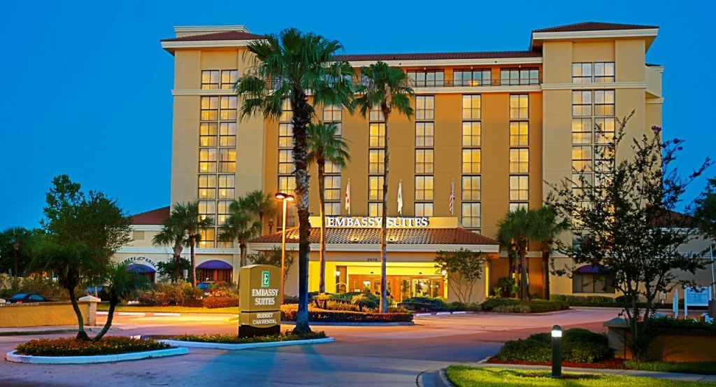 Hotel Embassy Suiteshilton Orlando, Fl - Booking - Embassy Suites Florida Locations Map