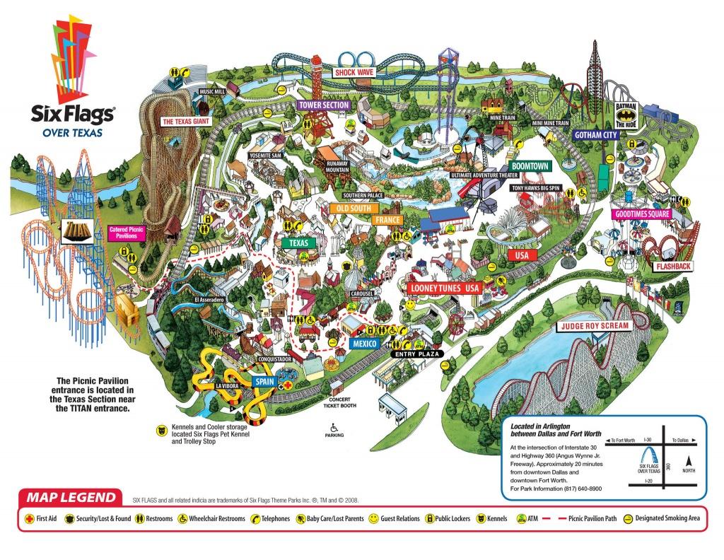 Hotel Near Six Flags Over Texas | Quality Inn At Arlington - Six Flags Over Texas Map