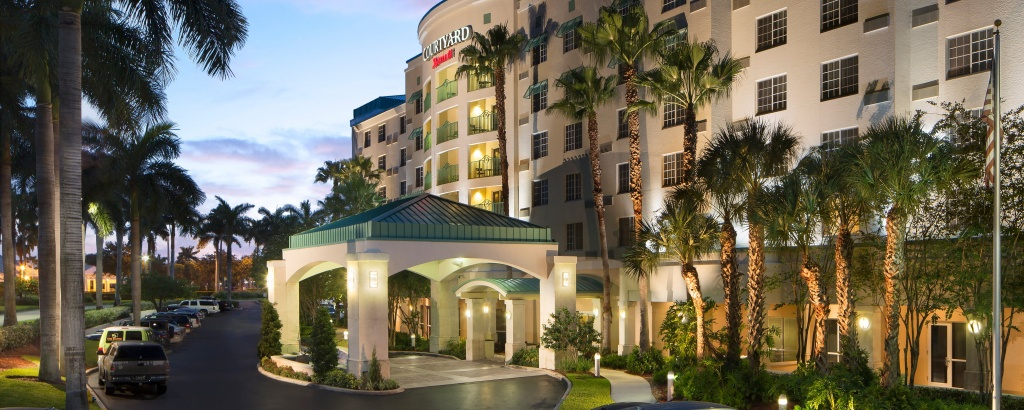 Hotel With Fll Airport Shuttle | Courtyard Fort Lauderdale Airport - Map Of Hotels In Fort Lauderdale Florida