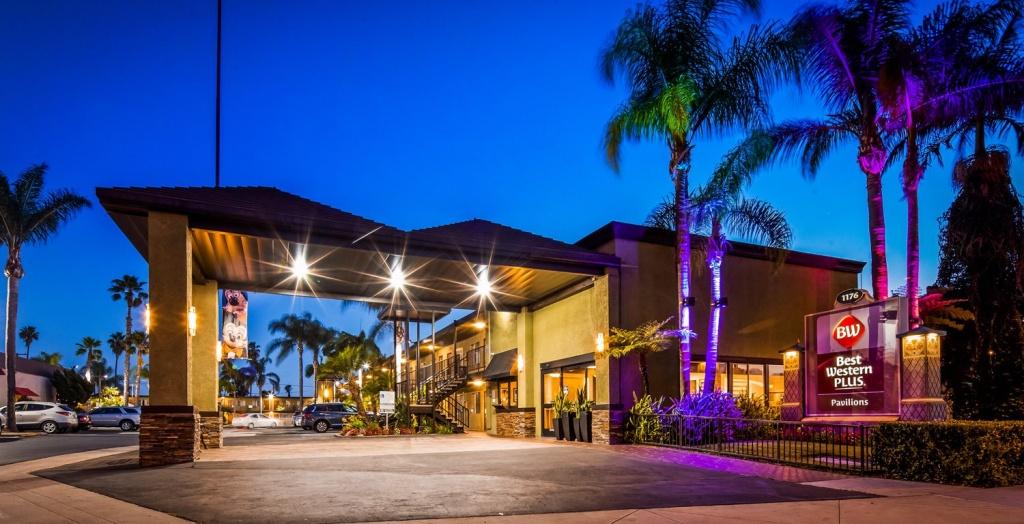 Hotels Near Disneyland - Best Western Plus Pavilions - Disney Hotel - Map Of Best Western Hotels In California
