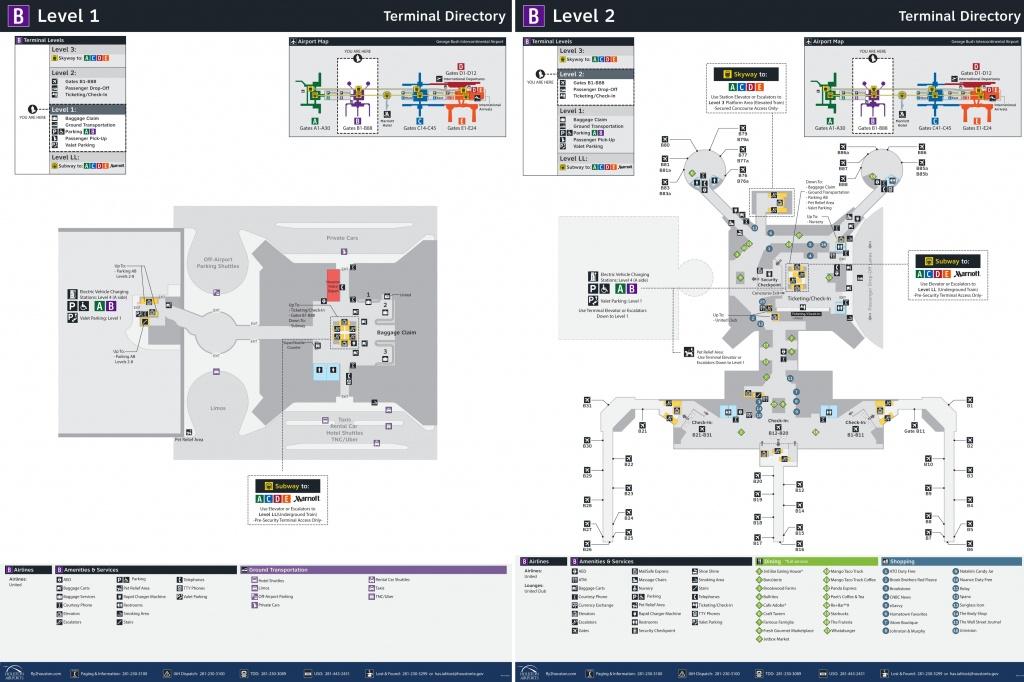 Houston Airport Terminal B Map - Houston Texas Map Airports