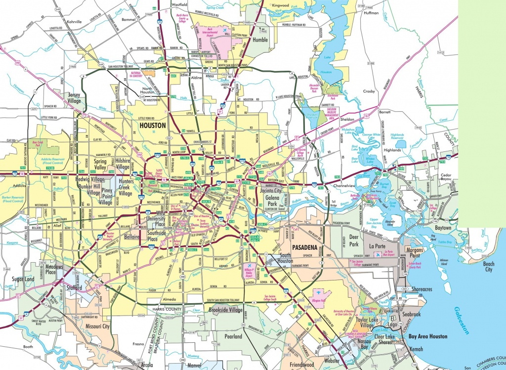 Houston Area Road Map - Show Map Of Houston Texas