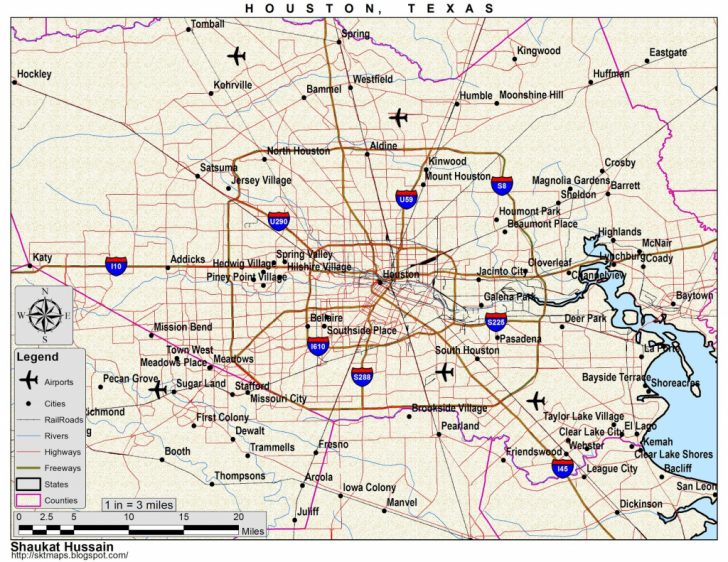 Houston Texas Map Airports