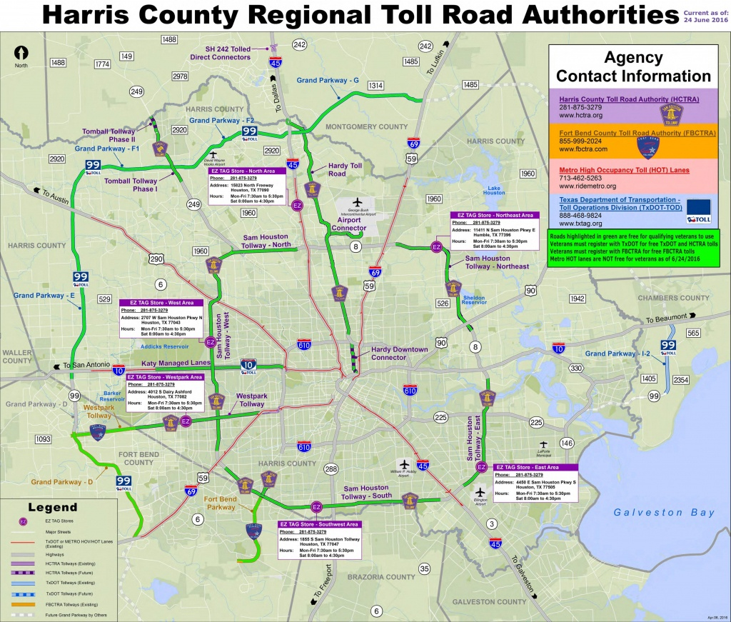 Houston Toll Road Map - Map Of Houston Toll Roads (Texas - Usa) - Texas Toll Roads Map