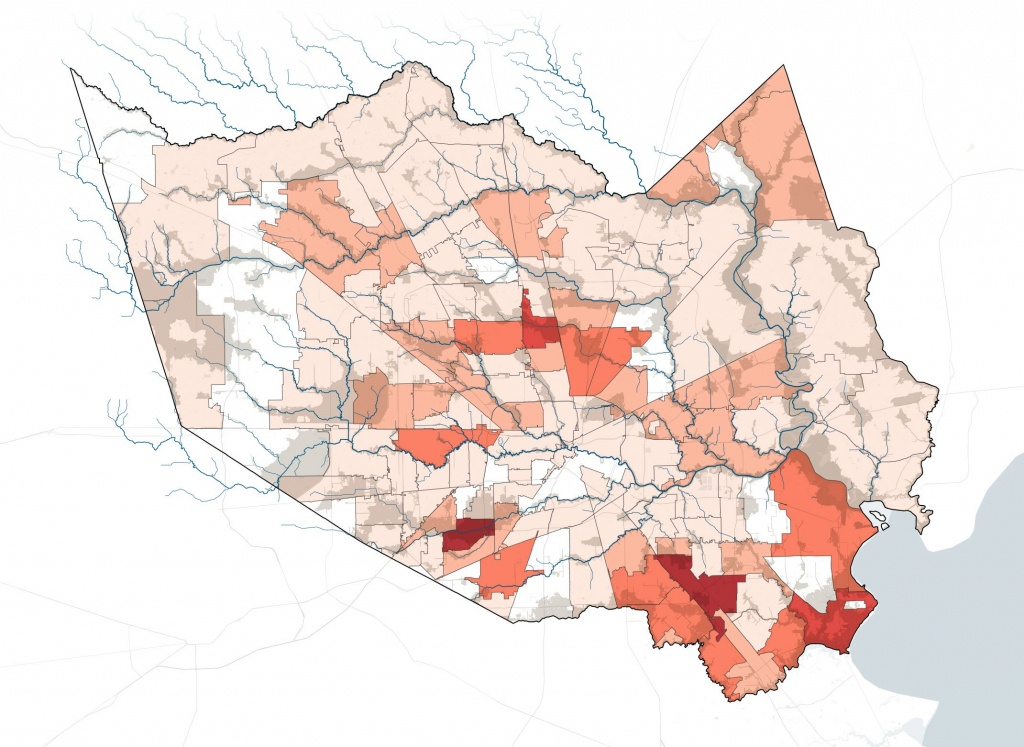 How Harvey Hurt Houston, In 10 Maps   Propublica - Houston Texas Flood Map