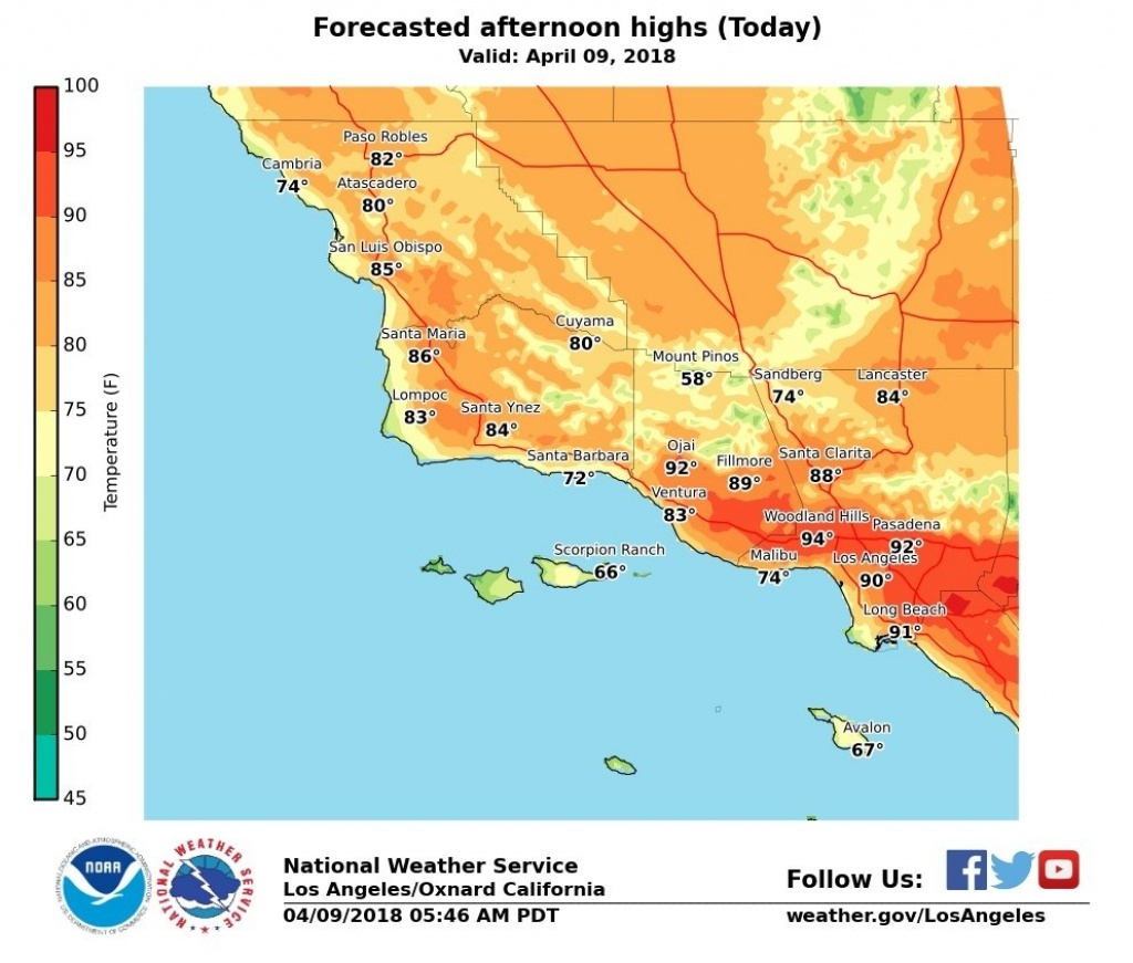 How Long Will Southern California Heat Last? – Daily News Inside Los - Heat Map Southern California