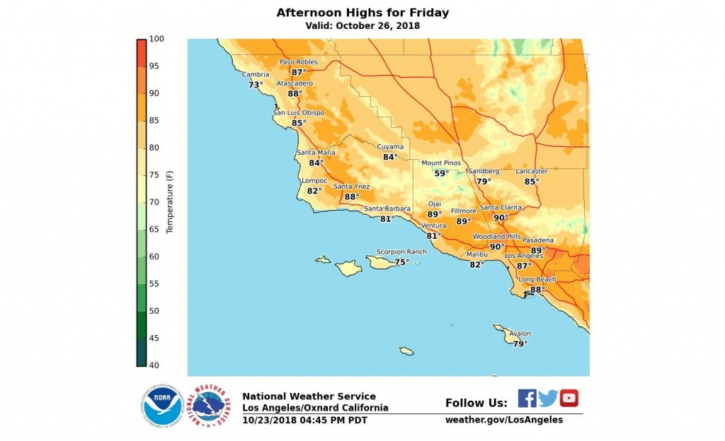 How Long Will The Heat Last In Southern California? – Orange County - Heat Map Southern California