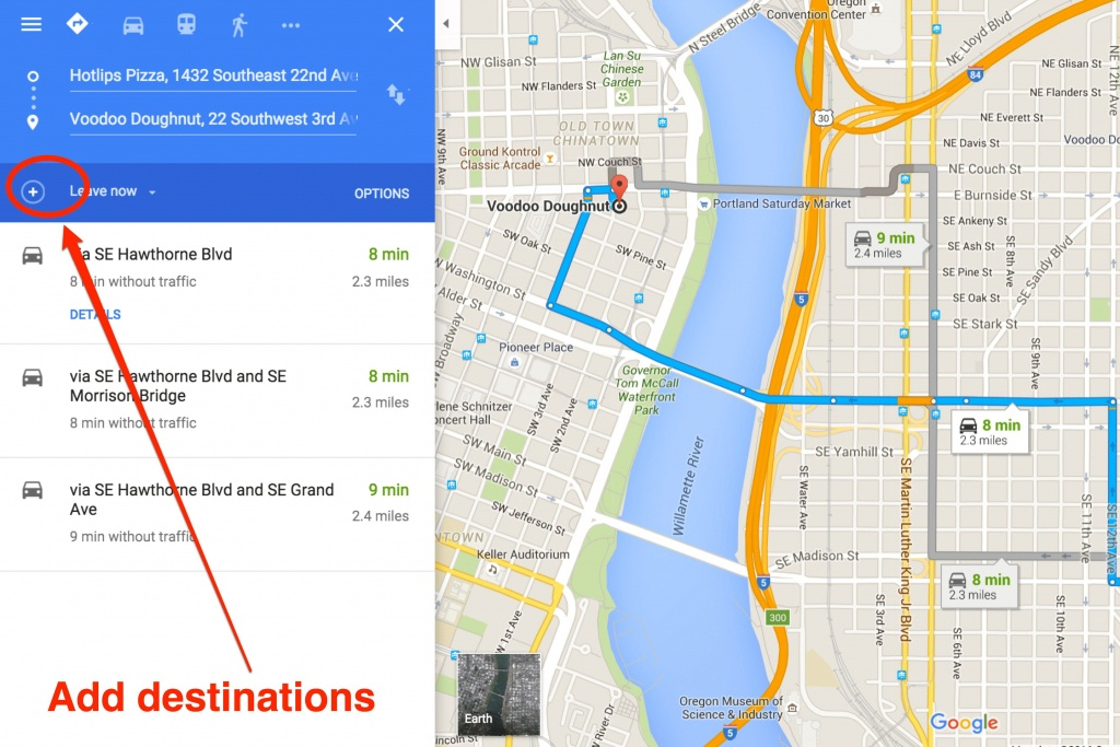 How To Get Driving Directions And More From Google Maps - Printable Driving Directions Map