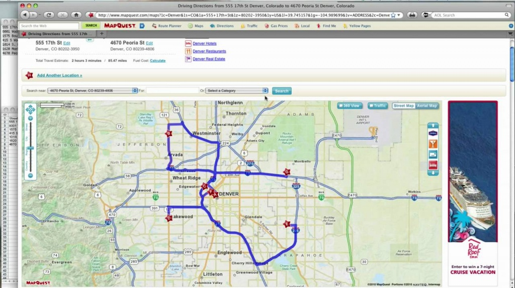 How To -- Mapquest Route Planner - Youtube - Mapquest Florida Map
