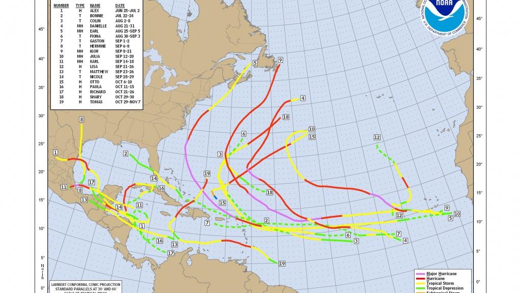 How To Use A Hurricane Tracking Chart - Printable Hurricane Tracking Map