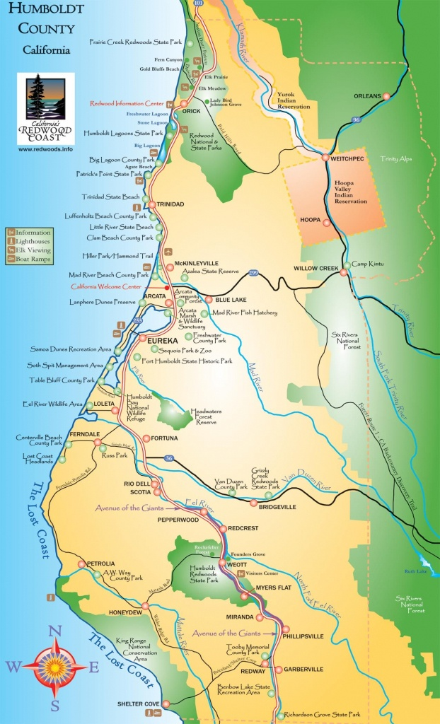 Humboldt County California Map - Humboldt County Ca • Mappery - California Camping Map
